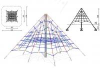 Virvinė laipiojimo piramidė. Kvadratinė