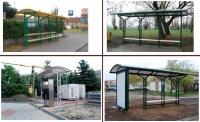 """Viešojo transporto, autobusų stotelės, """"Safyras"""""""