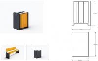 Šiukšlių dėžė su pelenine ir užraktu JMT0236