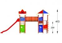 """Vaikų žaidimų aikštelė """"Pilies bokštas 11MP"""""""