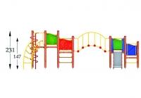 """Vaikų žaidimų aikštelė """"Platforma07MP"""""""