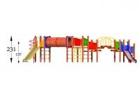 """Vaikų žaidimų aikštelė """"Platforma09MP"""""""