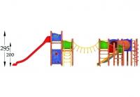 """Vaikų žaidimų aikštelė """"Platforma11MP"""""""