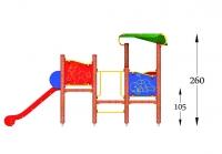 """Vaikų žaidimų aikštelė """"Bokštas03MP"""""""