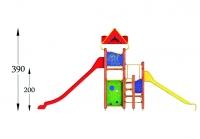 """Vaikų žaidimų aikštelė """"Bokštas17MP"""""""