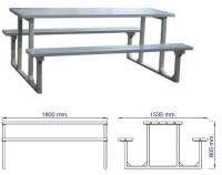 Metalinis suoliukas su stalu CMP