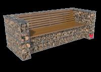 Akmeninis suoliukas su atlošu- gabionas