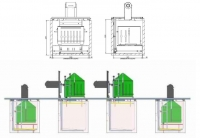 Požeminiai šiukšlių konteineriai. Šoninis atsidarymas