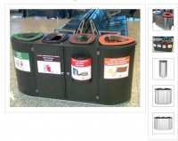 Rūšiavimo šiukšlių dėžės. Metalinės. 80L,90L,100L