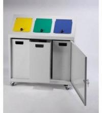 Rūšiavimo šiukšlių dėžės. Talpa 3x32L. Kodas 4985