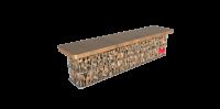 Akmeninis suoliukas - gabionas
