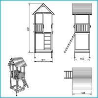 Vaikų žaidimų aikštelės. Cabana bokštas