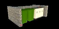 Akmeninis tvorelė - gabionas